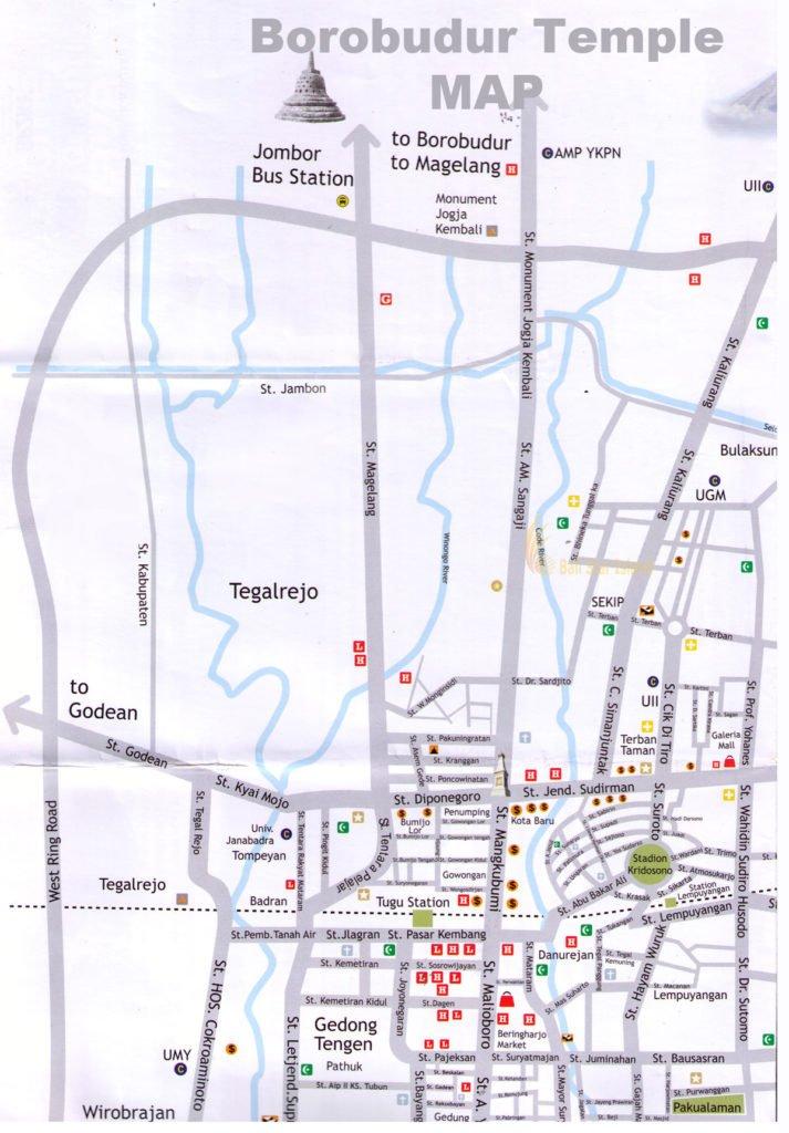 Borobudur Map | Yogyakarta Tourism Maps - Travel Guides