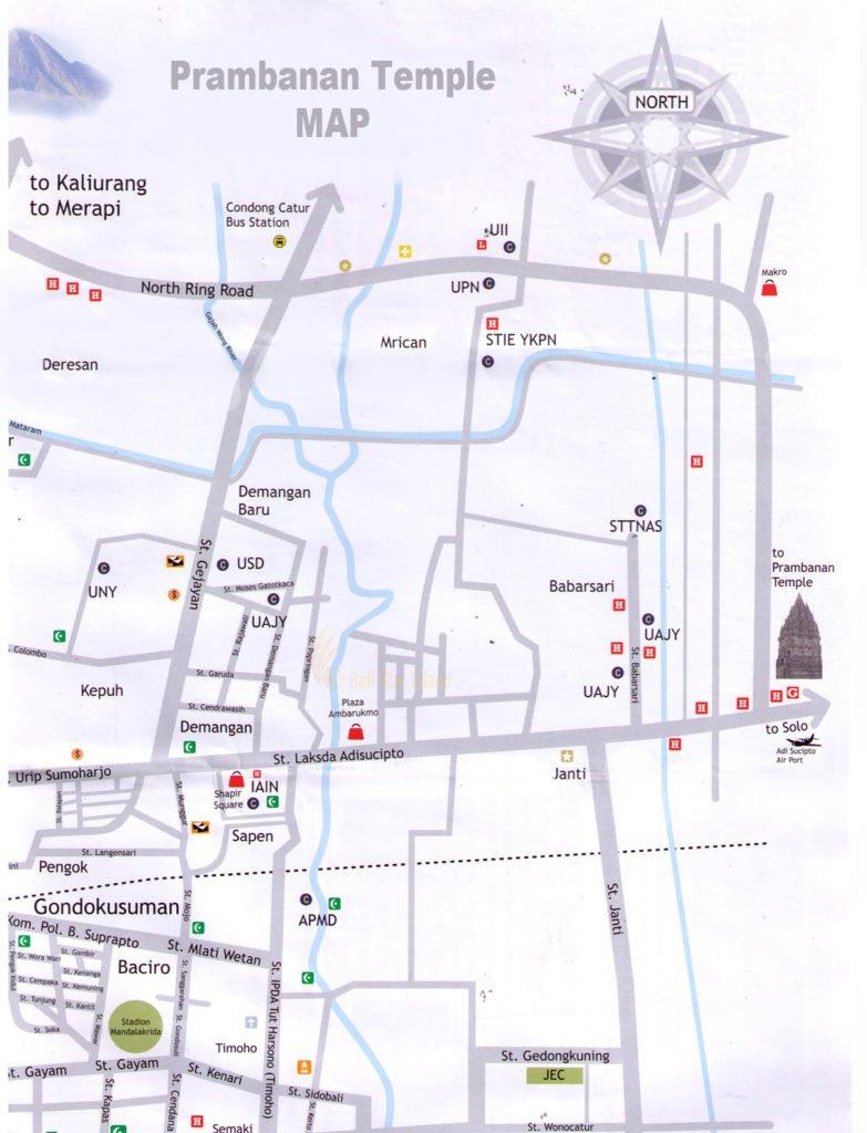 Prambanan Map | Yogyakarta Travel Guides - Tourism Maps