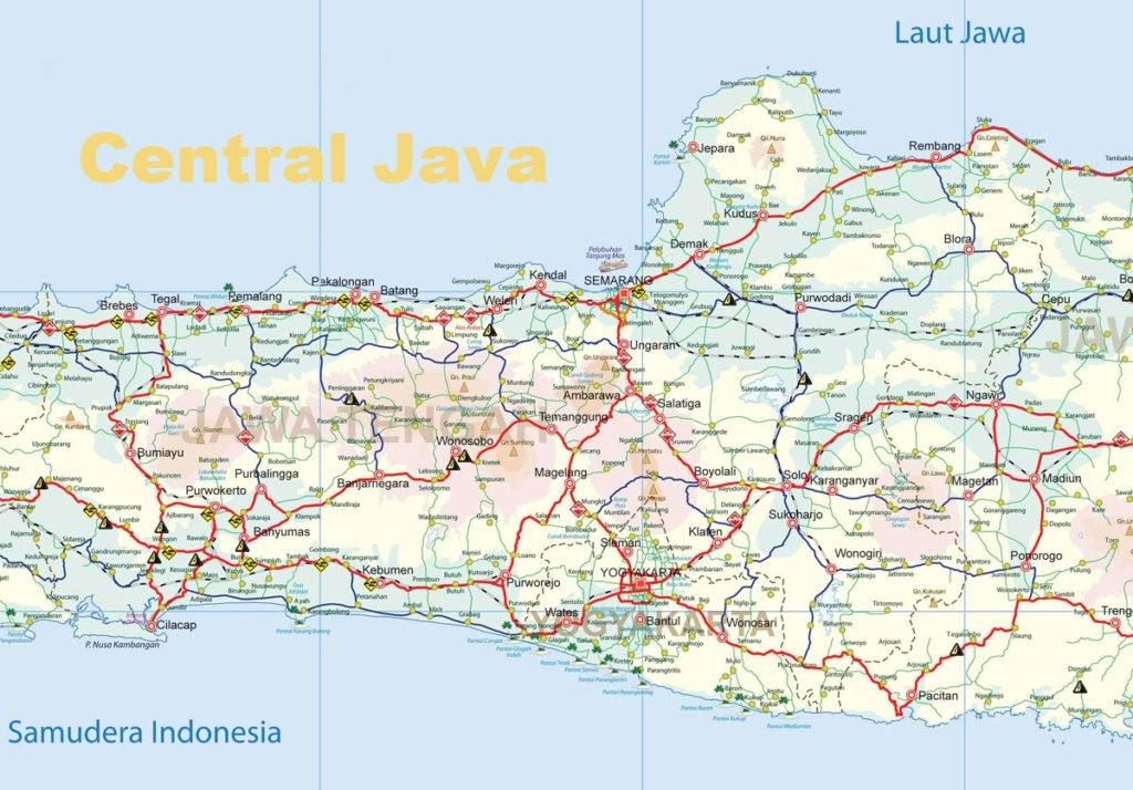 Yogyakarta Java Island Map | Yogyakarta Tourism Maps