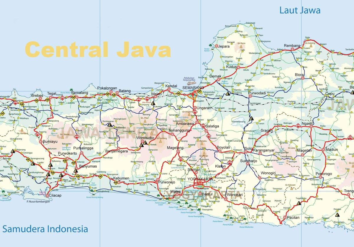 yogyakarta java island map  yogyakarta tourism maps -