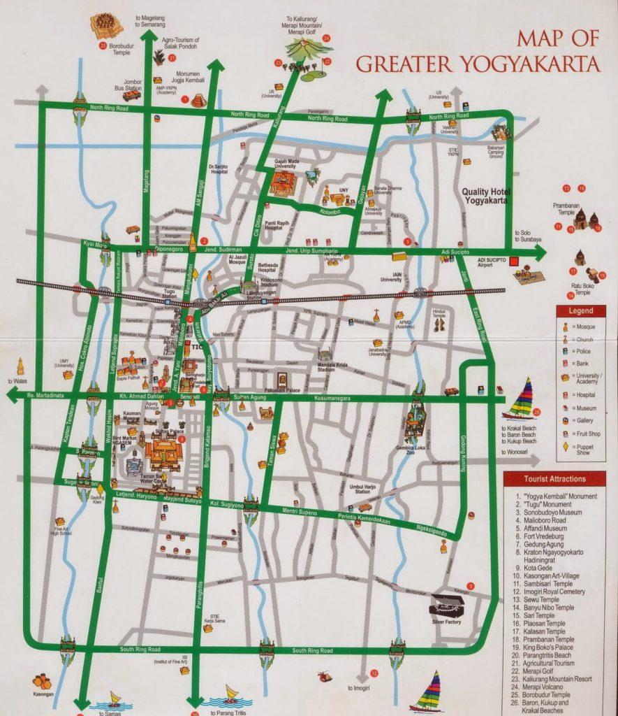 Yogyakarta Tourism Maps | Yogyakarta City Map - Tourist Information
