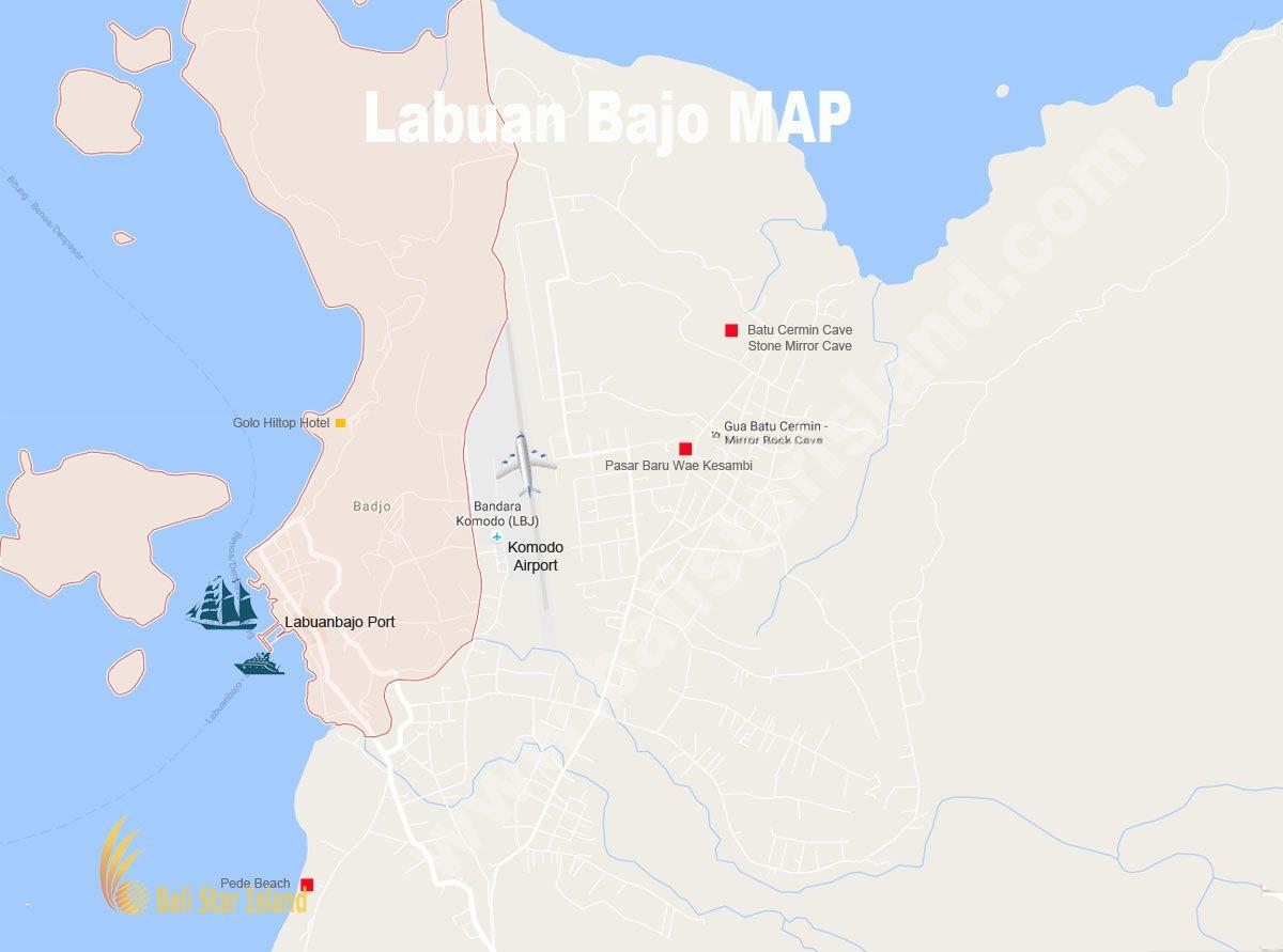 Labuan Bajo Map Komodo National Park Tourism Maps