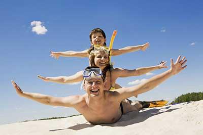 beach family travel, bali star island